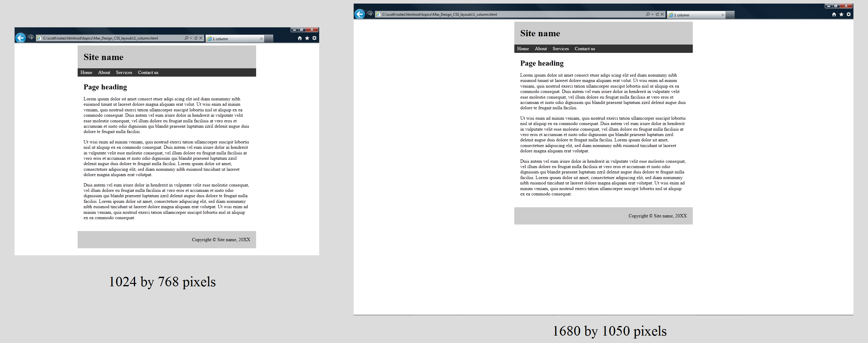 CSS layouts on
